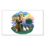 St Fran (ff) - 2 Siamese (A) Sticker (Rectangle 10