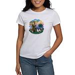 St Fran (ff) - 2 Siamese (A) Women's T-Shirt