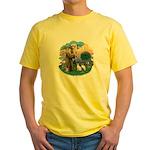 St Fran (ff) - 2 Siamese (A) Yellow T-Shirt
