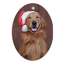 Golden Retriever Christmas Oval Christmas Ornament