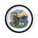 St Fran (ff) - 3 Siamese Wall Clock