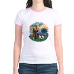 St Fran (ff) - 3 Siamese Jr. Ringer T-Shirt