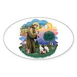 St Fran (ff) - 3 Siamese Sticker (Oval 10 pk)