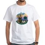 St Fran (ff) - 3 Siamese White T-Shirt