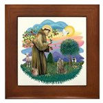 St Fran (f)-Norw. Forest Framed Tile
