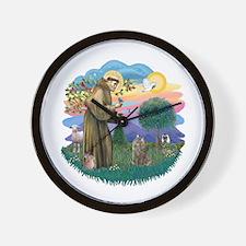 St Fran (f)-Norw. Forest Wall Clock
