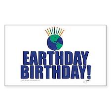 earthday_Birthday Rectangle Decal