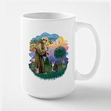 St Fran (f) - Tabby & White Large Mug