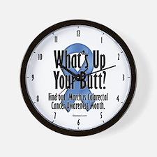 Colorectal Cancer Awareness Wall Clock