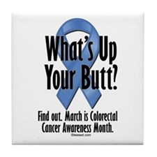 Colorectal Cancer Awareness Tile Coaster