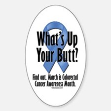 Colorectal Cancer Awareness Oval Decal