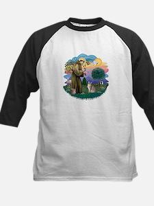 StFran(f)-Abyssinian (bl) Kids Baseball Jersey