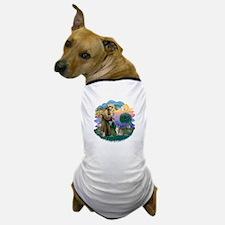 StFran(f)-Abyssinian (bl) Dog T-Shirt