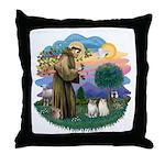 St Fran(f) - 2 Ragdolls Throw Pillow