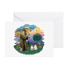 St Fran(f) - 2 Ragdolls Greeting Cards (Pk of 10)