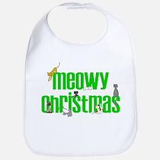 Meowy Christmas Bib