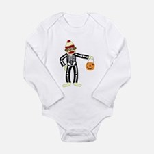 Sock Monkey Halloween Long Sleeve Infant Bodysuit