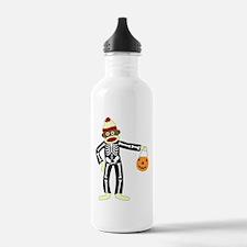 Sock Monkey Halloween Water Bottle