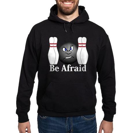 Be Afraid Logo 3 Hoodie (dark) Design Front Center