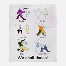 Ballroom Dancers Throw Blanket