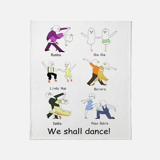 Ballroom Dancers Throw Blanket