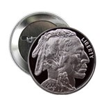Silver Indian Head Button