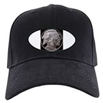 Silver Indian Head Black Cap