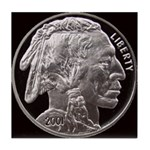 Silver Indian Head Tile Coaster