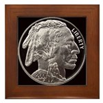 Silver Indian Head Framed Tile