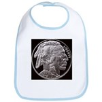 Silver Indian Head Bib
