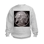 Silver Indian Head Kids Sweatshirt