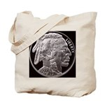 Silver Indian Head Tote Bag