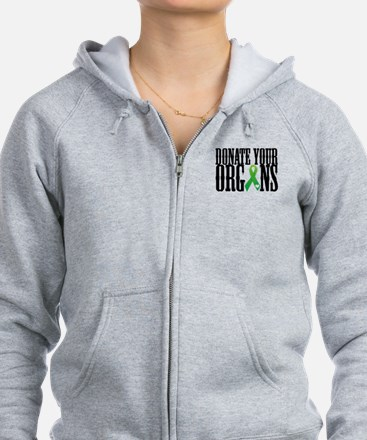 Donate Your Organs With Heart Zip Hoodie