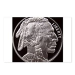 Silver Indian Head Postcards (Package of 8)