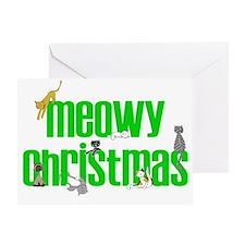Meowy Christmas Cards Greeting Card