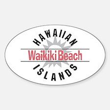 Waikiki Beach Sticker (Oval)