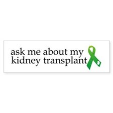 Cute Kidney transplant Bumper Sticker