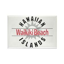 Waikiki Beach Rectangle Magnet