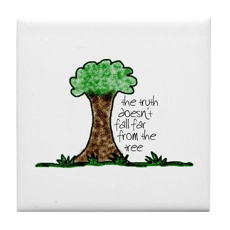 Truth Tree Tile Coaster