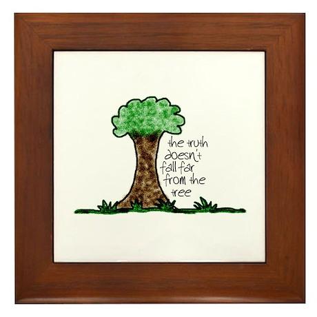 Truth Tree Framed Tile