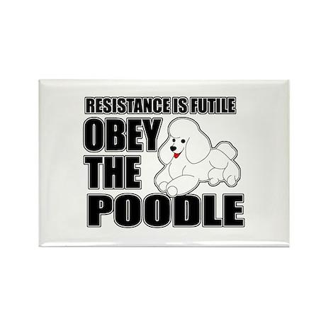 Poodle Rectangle Magnet (10 pack)