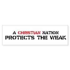 Christian Nation Protects Bumper Sticker