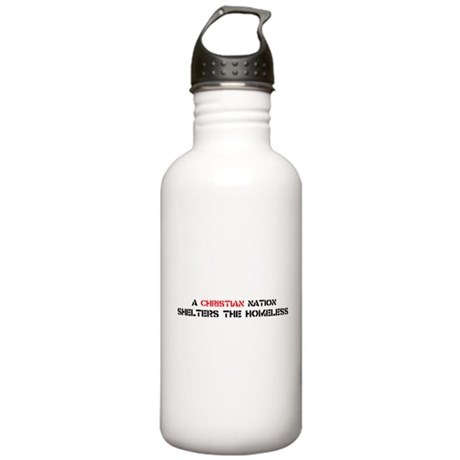 Christian Nation Shelters Stainless Water Bottle 1