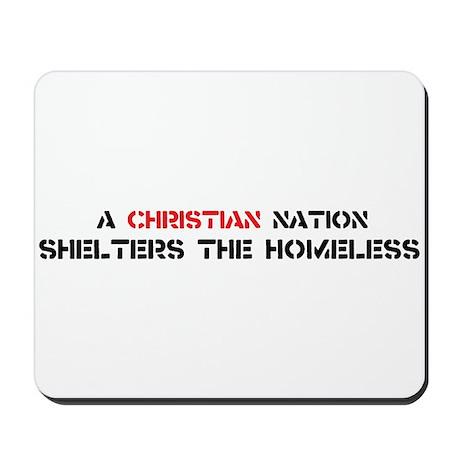 Christian Nation Shelters Mousepad