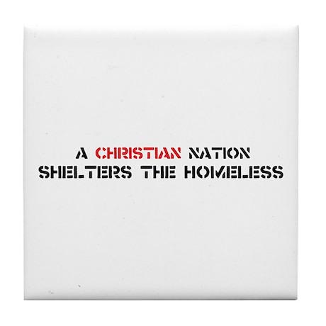 Christian Nation Shelters Tile Coaster