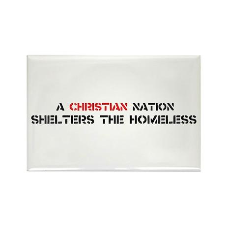 Christian Nation Shelters Rectangle Magnet