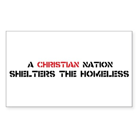 Christian Nation Shelters Sticker (Rectangle)