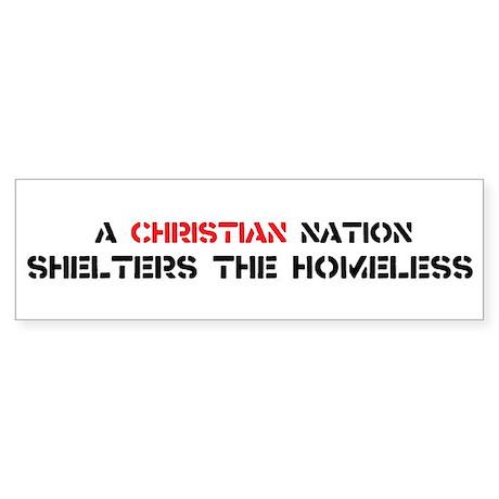 Christian Nation Shelters Sticker (Bumper)