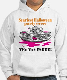 Scary Halloween Tea Party Hoodie