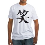 Smile Japanese Kanji Fitted T-Shirt
